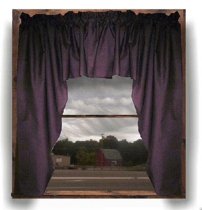 Kitchen Swag Valance Curtains | Eggplant Purple Swag ...