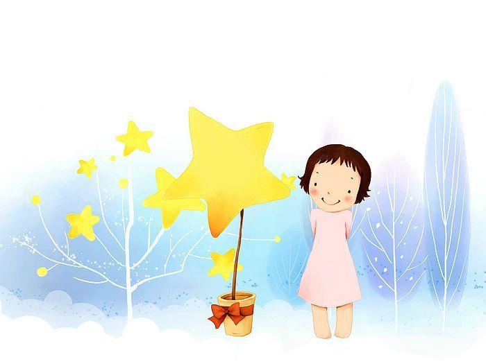 Kim Jong Bok Illustrations(Vol.05) : Sweet Childhood Lovely Girl    - Winter Fairy - Sweet Little Girl Cartoon Illustration 1920*1600  18