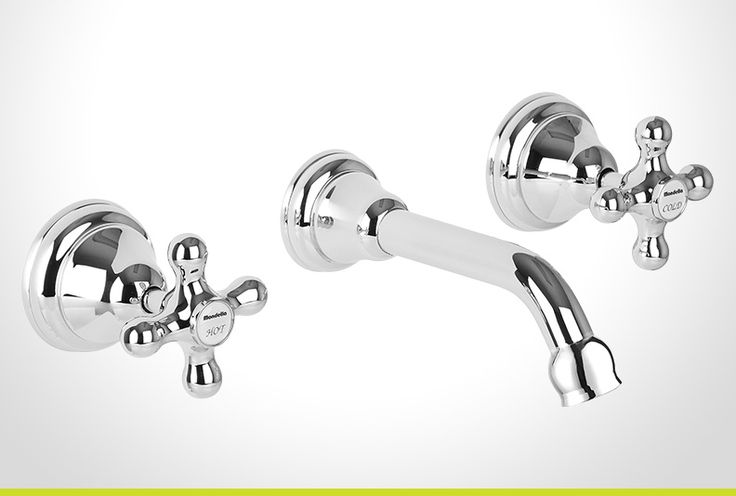 Maestro chrome cross handle bath set