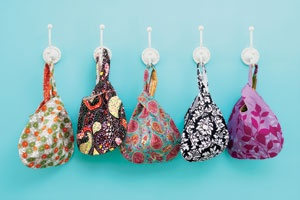 These look fun, environmentally friendly little bags to keep in your diaper bag for dirty baby clothes.