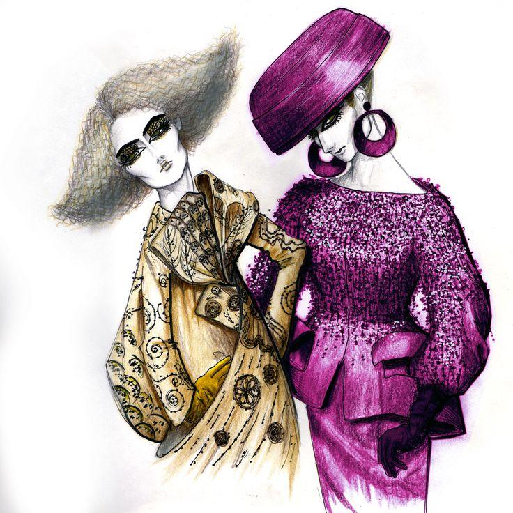 Klimt couture in Dior 2008.