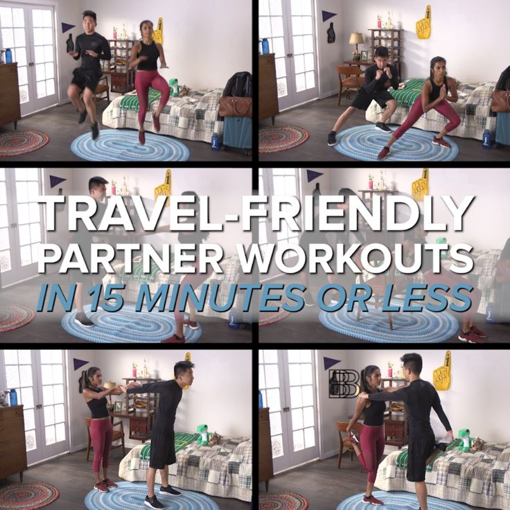 Travel-Friendly Partner Workouts in 15 Minutes or Less || Get your workout on, o… – Fitness
