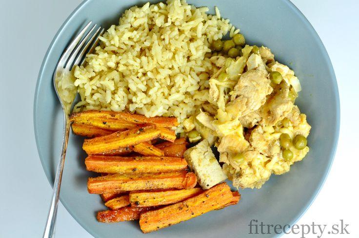Chutný, zdravý obed či večera s kuracími prsami, tofu, hráškom, ryžou a mrkvovými hranolkami. Zachutí isto celej rodine. Ingrediencie (na 4 porcie): 600g kuracích pŕs 1 veľká cibuľa 1 ČL oleja 1/2 ČL mletej papriky 1/2 ČL mletého čierneho korenia 2 PL sójovej omáčky 250g údeného tofu 100g hrášku 100g strúhaného syra (napr. mozzarella) 200g […]