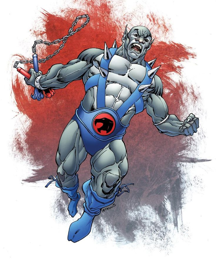 Thundercats Panthro, Line art by Robert Atkins & Color by ...