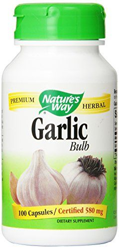 Nature's Way Garlic Bulb, 580mg, 100 Capsule - http://alternative-health.kindle-free-books.com/natures-way-garlic-bulb-580mg-100-capsule/