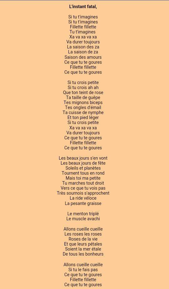 """""""Si tu t'imagine..."""" par Raymond Queneau extrait de """"L'instant Fatal"""""""