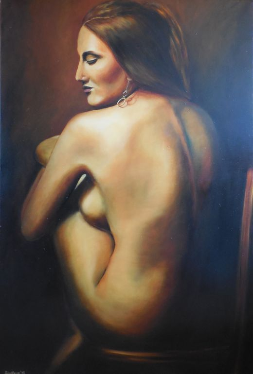 "Series ""Nudes"". Woman with Earring.  oil on canvas 80*120 cm Tatiana Siedlova"