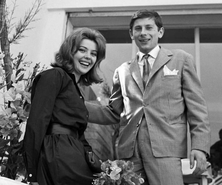 Barbara Kwiatkowska (Lass) & her first husband Roman Polanski during The Cannes Film Festival, May 1960.