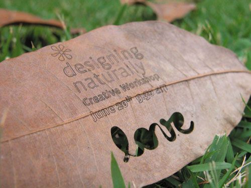Designing Naturally - Creative Leaf Business Card