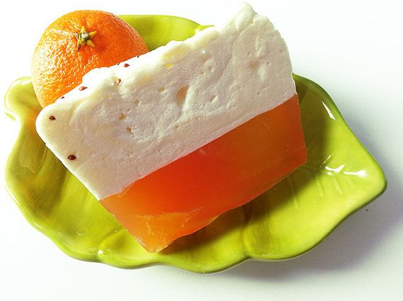 Organic Soap  Orange Patchouli Soap  Soap Cake  by Bullesdesucre, $6.00