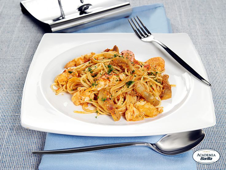 Spaghetti Barilla con astice e carciofi