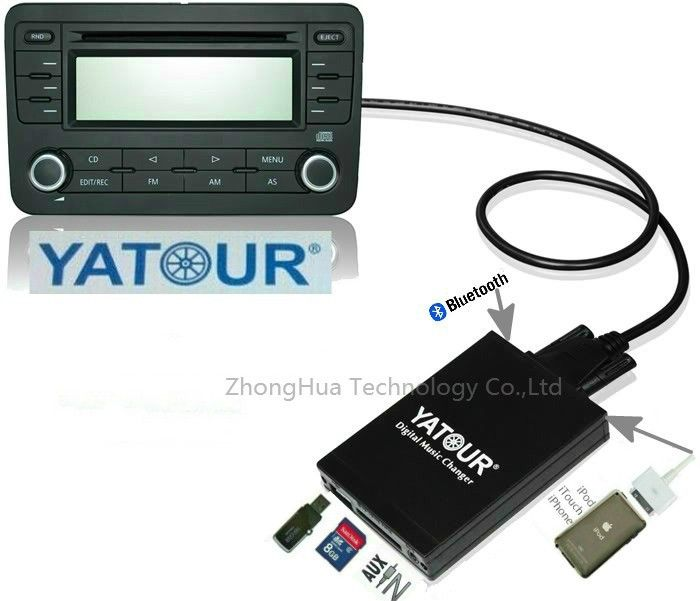 81.78$  Watch now - Yatour YTM07 Digital Music changer USB SD AUX Bluetooth  ipod iphone  interface for Clarion Suzuki Mcintosh MP3 Adapter  #magazineonline
