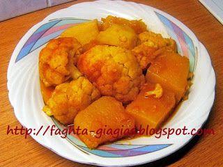 Κολοκύθα γιαχνί με κουνουπίδι και πατάτες - Τα φαγητά της γιαγιάς