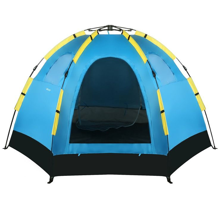 coocheer 5-8 Person Dome Tent Automatic Pop Up Camping Family Tent 2 Door 3 Window Zipper *** New and awesome product awaits you, Read it now  : Hiking tents