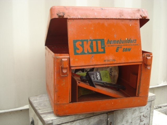 Vintage Orange Skil Saw Tool Box 1950 S 65 00 Via Etsy