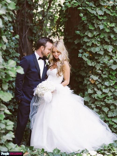 aaron paul new bride wedding marriage