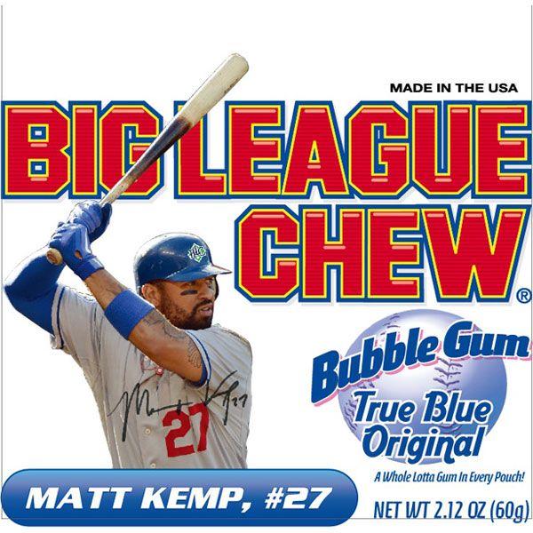 Dodgers Blue Heaven: Matt Kemp on Big League Chew