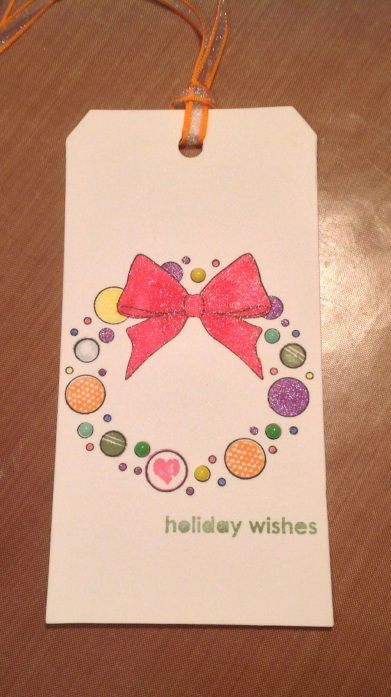Wendy's Tag- stamping and coloring