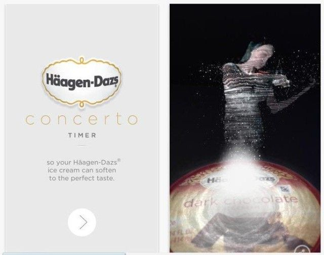 Häagen Dazs Launches Concerto Timer App With AR Technology