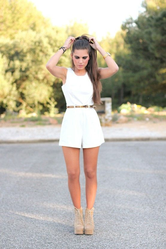Short White Jumpsuit