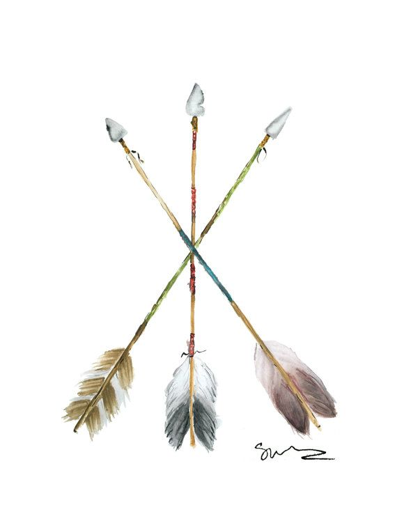 Watercolor Arrows Print by sarahruthwalters on Etsy