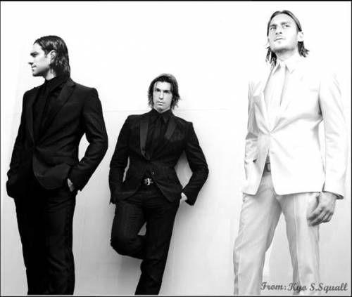 Nesta, Totti, Pirlo in Suits