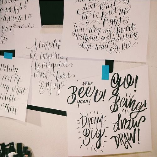 Best days of calligraphy images on pinterest