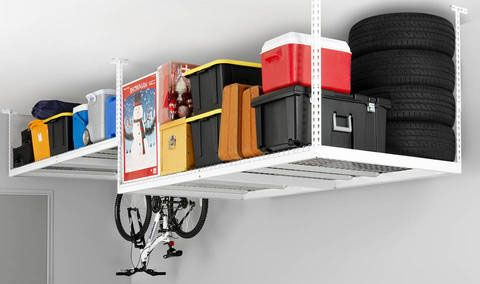 Rangement au plafond garage box entr e pinterest for Garage rangement plafond