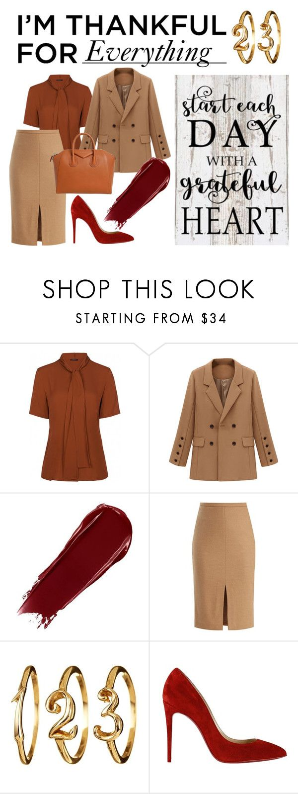 """""""I'M THANKFUL FOR EVERYTHING!"""" by annichkaloves ❤ liked on Polyvore featuring MaxMara, Christian Louboutin and Givenchy"""
