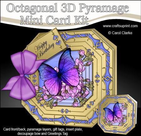 3D Blossom & Butterflies Pyramage Octagonal Floral Mini Kit