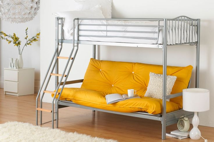 £339 Hyder Alaska Futon Bunk Bed with Futon