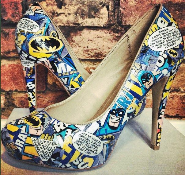 Batman Handmade Alternative Wedding Shoes Revive Me Boutique