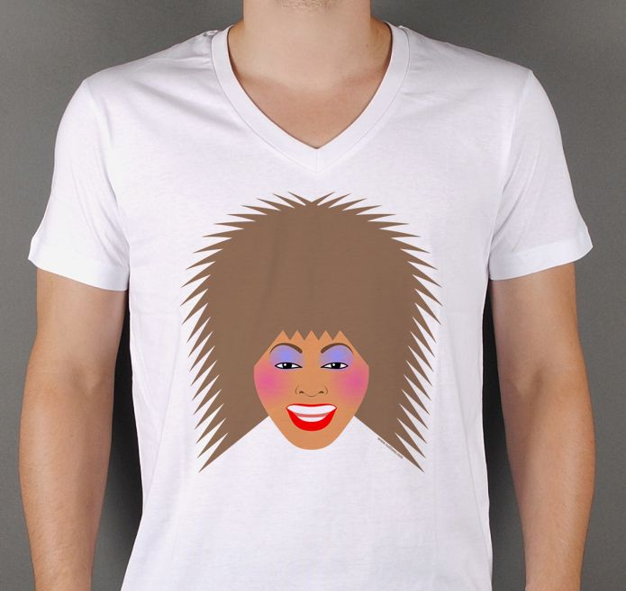 Our beloved Tina Turner bursting in one perfect beautiful smile. Yours at http://www.redbubble.com/people/loreleipelaez/works/15269006-greatest-tina