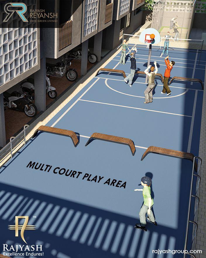 Let your kids develop their play personality with the various play courts available at #RajYashReyansh. #RajyashCity #RajYashGroup #RajYash #SouthVasna #Ahmedabad
