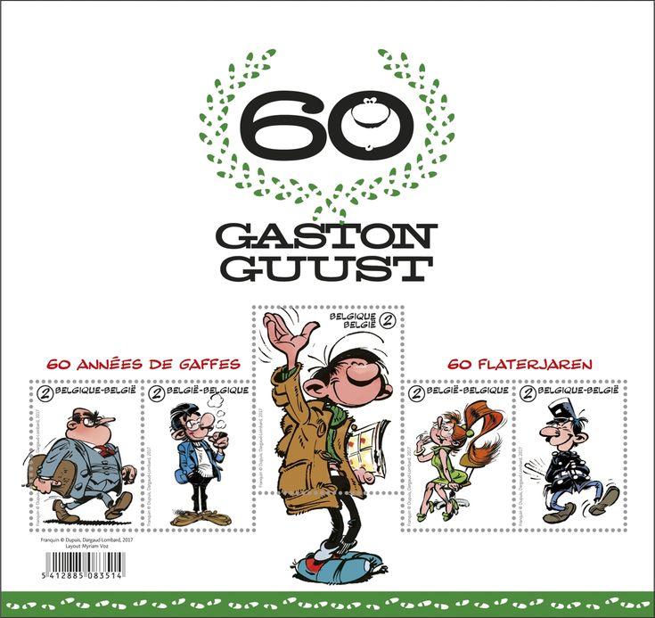 Stripfiguur Guust Flater vierde op 28 februari 2017 zijn 60ste verjaardag. Om die reden verscheen er iets later een speciaal verjaardagsalbum met de meest onvergetelijke grappen van de postsorteerder. De stripfiguur werd bedacht en getekend door André Franquin.
