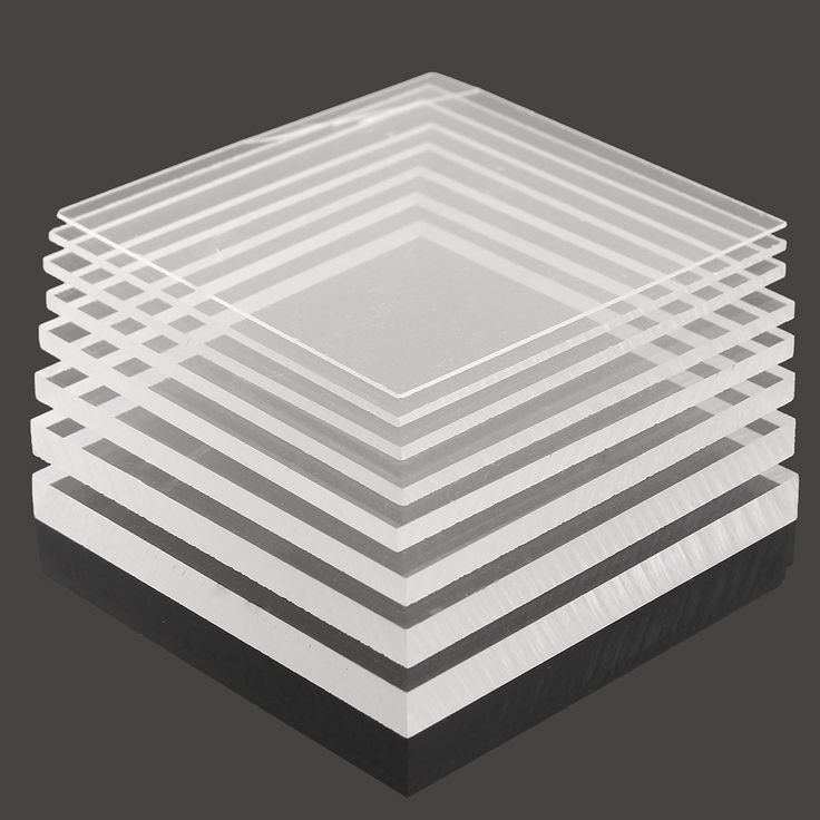 100x100mm Acrylic Perspex Sheet Cutting Panel Plastic Satin Gloss for Construction