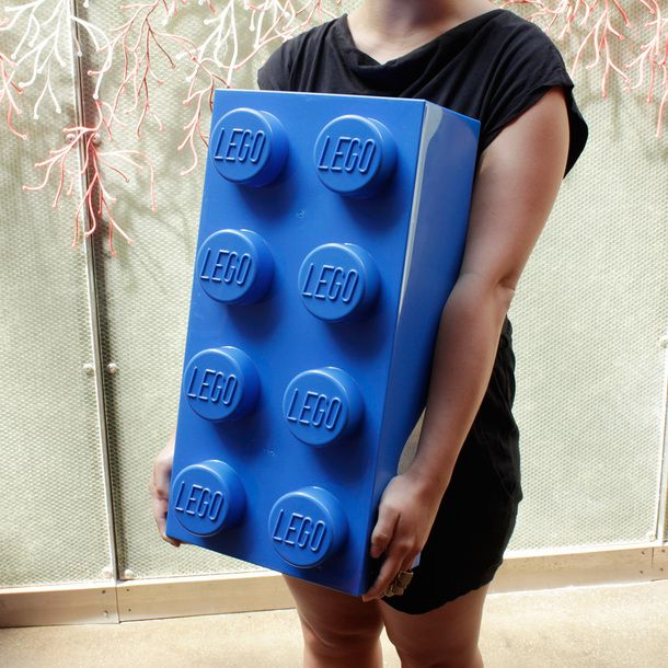 Giant LEGO storage bricks. (Yes, you can totally stack them)