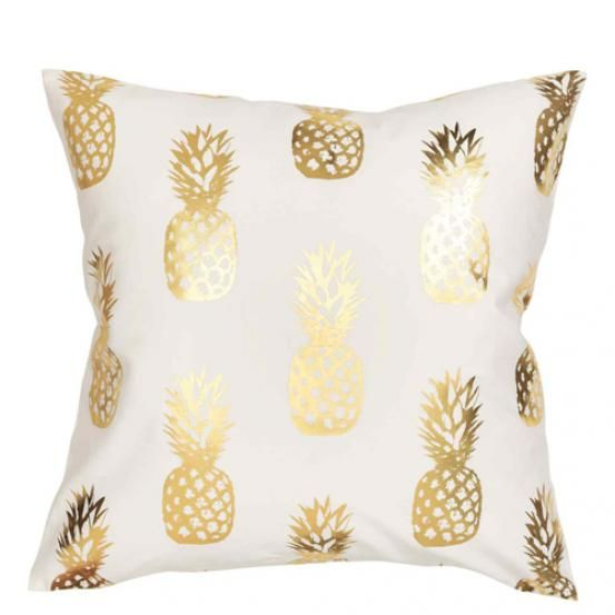 Kussenhoes met ananasprint