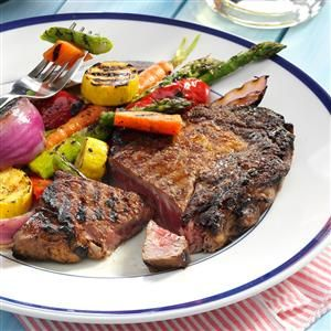 Caribbean Grilled Ribeyes Recipe -I made this mind-blowing steak with my father-in-law in mind. He loved it, and so did everyone else. You can serve it as part of all types of meals, but it's especially good alongside seafood. —De'Lawrence Reed, Durham, North Carolina