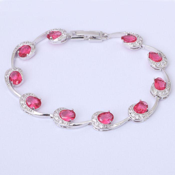 Креативный дизайн роуз рубин кристалл циркона браслеты для женщин заполненные самый популярный стиль мода ювелирных изделий TB553