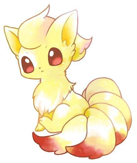 /Ninetales/#1581787 - Zerochan así sería la bestia de 9 colas o sea el Kyubi o kurama si estuviera en el universo Pokemon  estaría en su etapa de Pokemon bebé ✨