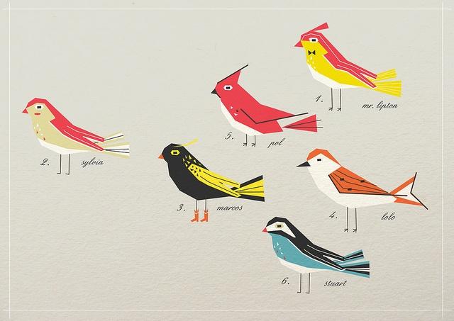 Birdies by Victoria Fernandez (via Creature Comforts)