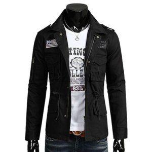 [패션플러스][THELEES(더리스)]더리스 카라넥 성조기장식 암지퍼 야상 파카 자켓 (SBJK66) - Korean Online Shopping, 11Street