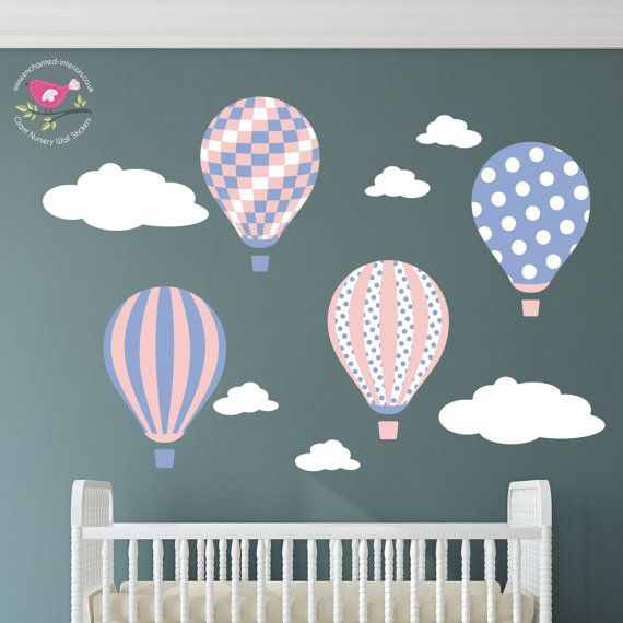 Best Hot Air Balloon Nursery Wall Stickers Decals Images On - Wall decals 2016