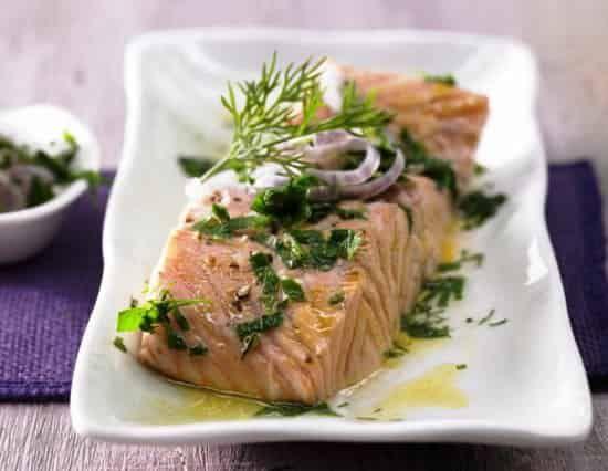 запеченный в фольге лосось в духовке фото
