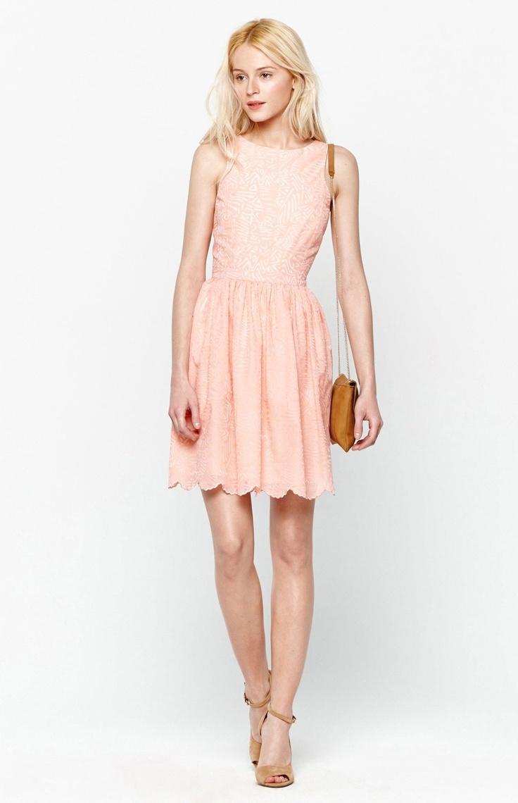 Vestido de cóctel naranja claro - U chica | Adolfo Dominguez Shop online