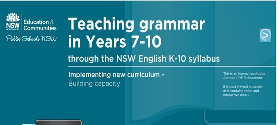 This online PDF explains the importance of contextualising the teaching of grammar- inviting teachers to watch, explore and download resources which will aid their ability to effectively teach grammar