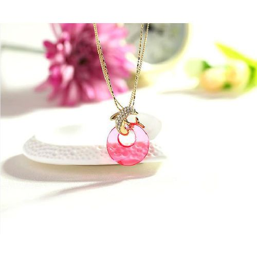 Dolphin Lovers Sweater Chains For Women Hot Genuine White Gold Plated Crystal