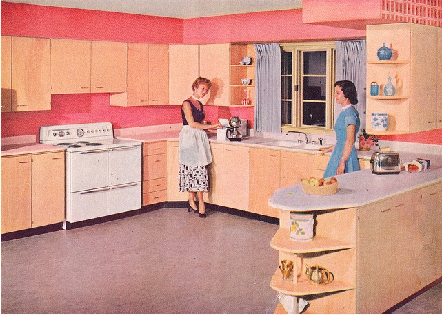 253 best Pink Retro Kitchens images on Pinterest | Retro kitchens ...