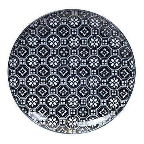 assiette japonaise Tokyo Design, motif fleur. Originale, noire et sobre - Le panier d'Eglantine